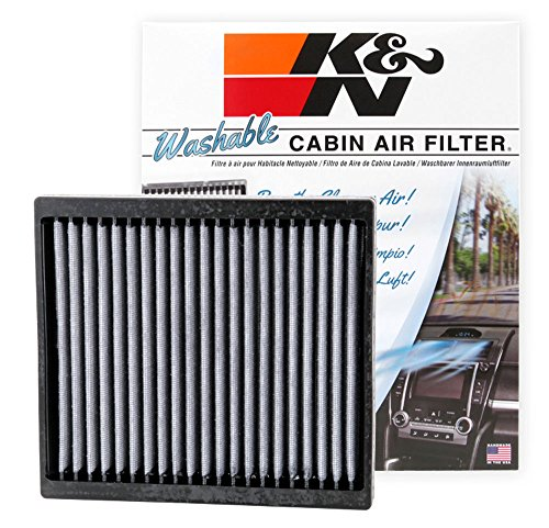 K&N VF2004 Washable & Reusable Cabin Air Filter Cleans and Freshens Incoming Air for your Isuzu, Nissan, Mitsubishi
