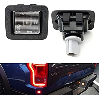 6000K White 2017 2018 F150 Raptor RUXIFEY LED License Plate Light Lamp Compatible with 2015 to 2018 Ford F150 Pack of 2