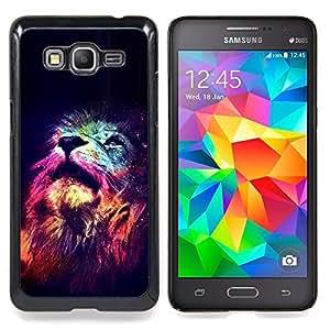 """Estrellas King Africa Noche Rosa Universo"""" - Metal de aluminio y de plástico duro Caja del teléfono - Negro - Samsung Galaxy Grand Prime G530F G530FZ G530Y G530H G530FZ/DS"""
