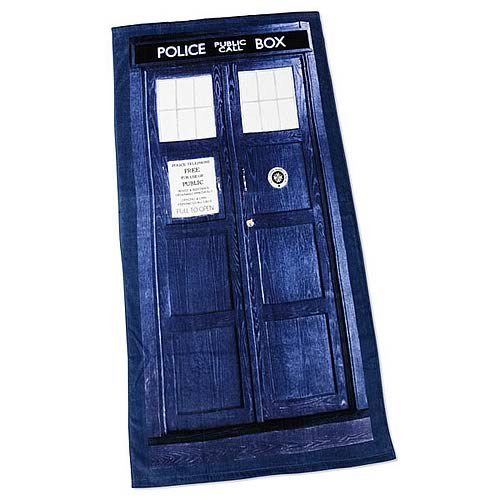 Doctor Who TARDIS Beach Towel
