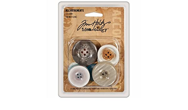 Tim Holtz Idea-ology SHABBY Accoutrements buttons