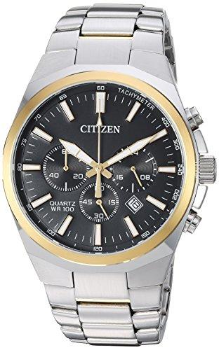 Citizen Men's ' Quartz Stainless Steel Casual Watch, Color:Two Tone (Model: AN8174-58E)