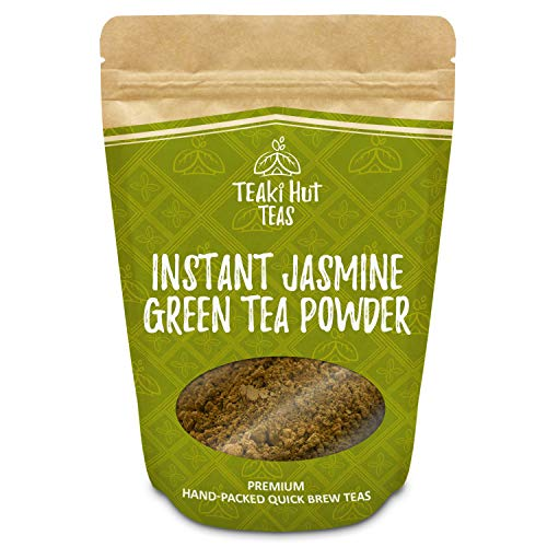 TEAki Hut Organic Instant Jasmine Green Tea Powder (4 oz / 80 Servings)