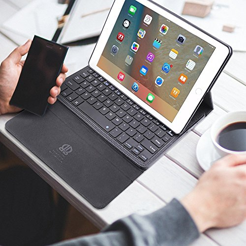iPad Mini Keyboard Case,Boriyuan iPad Mini Smart Case Stand Folio Leather Cover with Detachable Wireless Bluetooth Keyboard and Screen Protector +Stylus for Apple iPad Mini 1/Mini 2/Mini 3 (Black) by Boriyuan (Image #5)
