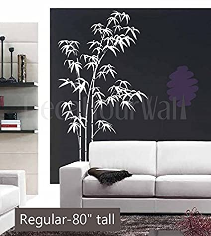 80u0026quot; Tall Large Bamboo Tree Wall Decal Removable Vinyl Sticker Home Decor Wall Art ( & Amazon.com: 80