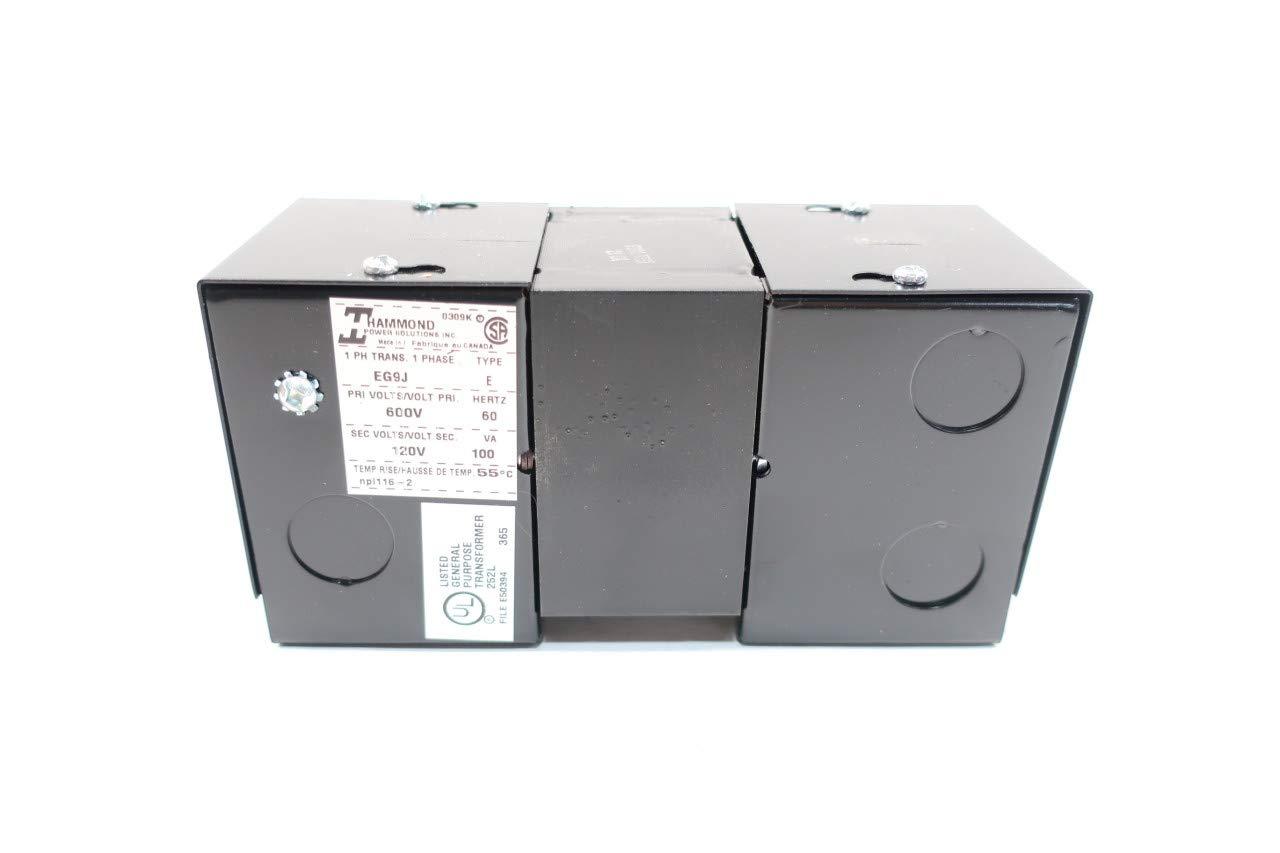 HAMMOND EG9J Type E Transformer 1PH 100VA 600V-AC 120V-AC