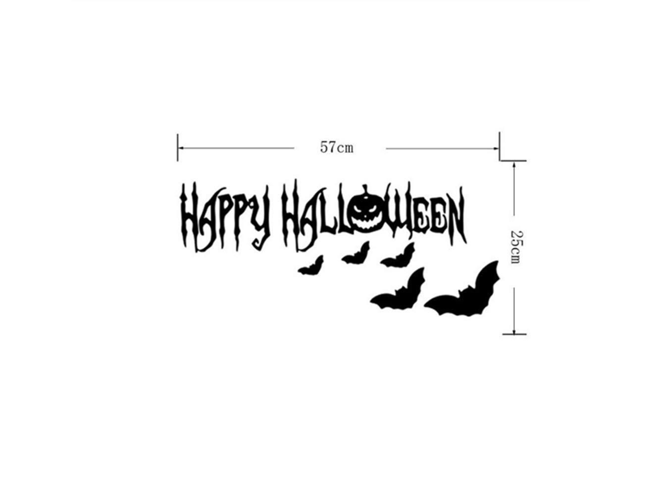Yyanliii Divertente Adesivi Per Finestre A Specchio Per Halloween Horror Rimovibili
