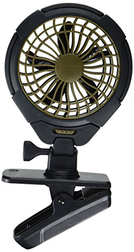 O2COOL 5-Inch Battery Operated Clip Fan, Camping Fan, Portable Fan, Battery Operated Portable Fan, Adjustable Clip Fan, AA Battery Fan, Rotating Fan, 5-Inch (Battery Operated Clip Fan)