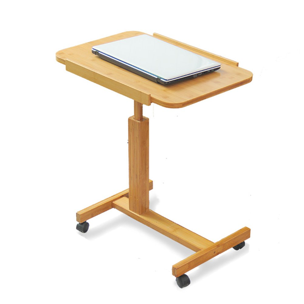 Folding Table Portable Bamboo Laptop Bracket Laptop Desk Tray Bed Table A++ (Size : L-70CM) by WH-Tables