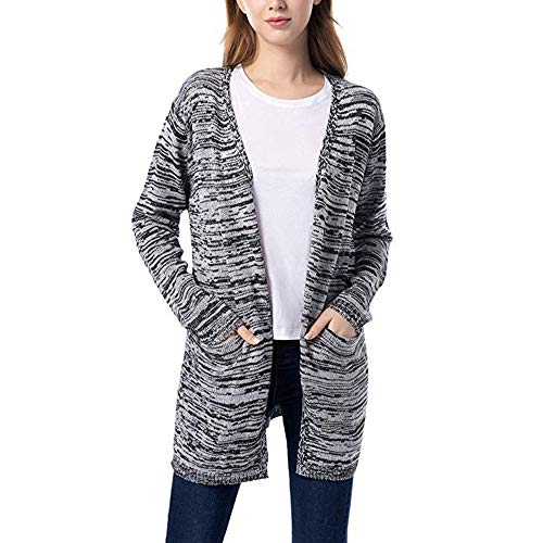 Womens Coats d, Women Knit Cardigan Sweaters Open Front Wool Coat Outwear with Pockets, Insulated rain Coats for Women-Medical lab Coats ()