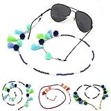 Snsunny Brillenkette Sonnenbrille Lesebrille Brillenb/änder Halter Kette mit Quaste One Size, Rosa