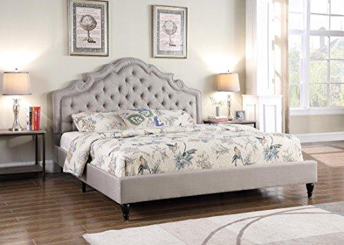 Amazon Com Home Life Platform Bed King Light Grey