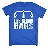 LIFE BEHIND BARS - CYCLING - RIDE LIKE THE WIND (M - ROYAL BLUE) NEW PREMIUM Men's T-SHIRT - slogan funny clothing joke novelty vintage retro t shirt top men's ladies women's girl boy men women tshirt tees tee t-shirts shirts fashion urban cool geek cycle ride bike bicycle pedel seat lycra helmet handle bars day for him her brother sister mum dad mummy daddy father mother birthday ideas gifts christmas present gift S M L XL 2XL 3XL 4XL 5XL - by 123t