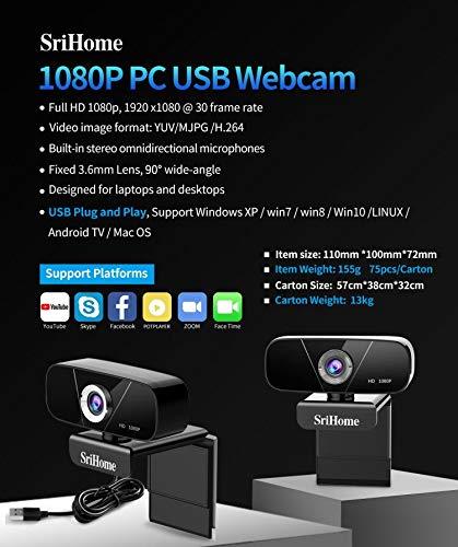 Srihome Full HD Webcam