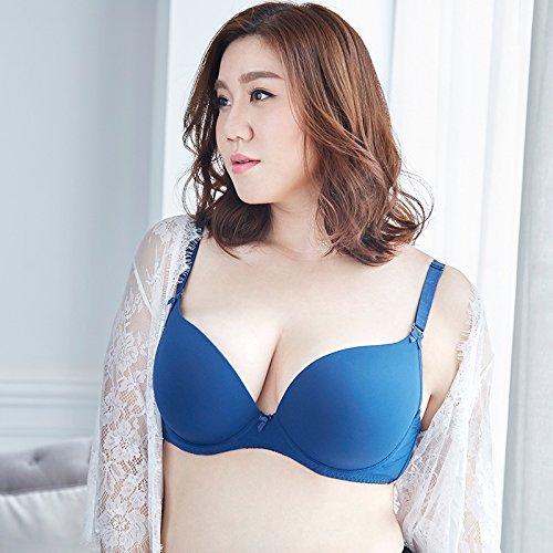 ZHFC-Señoras ropa interior sujetador sin dejar huellas tamaño júntense Furu gorda m correas de