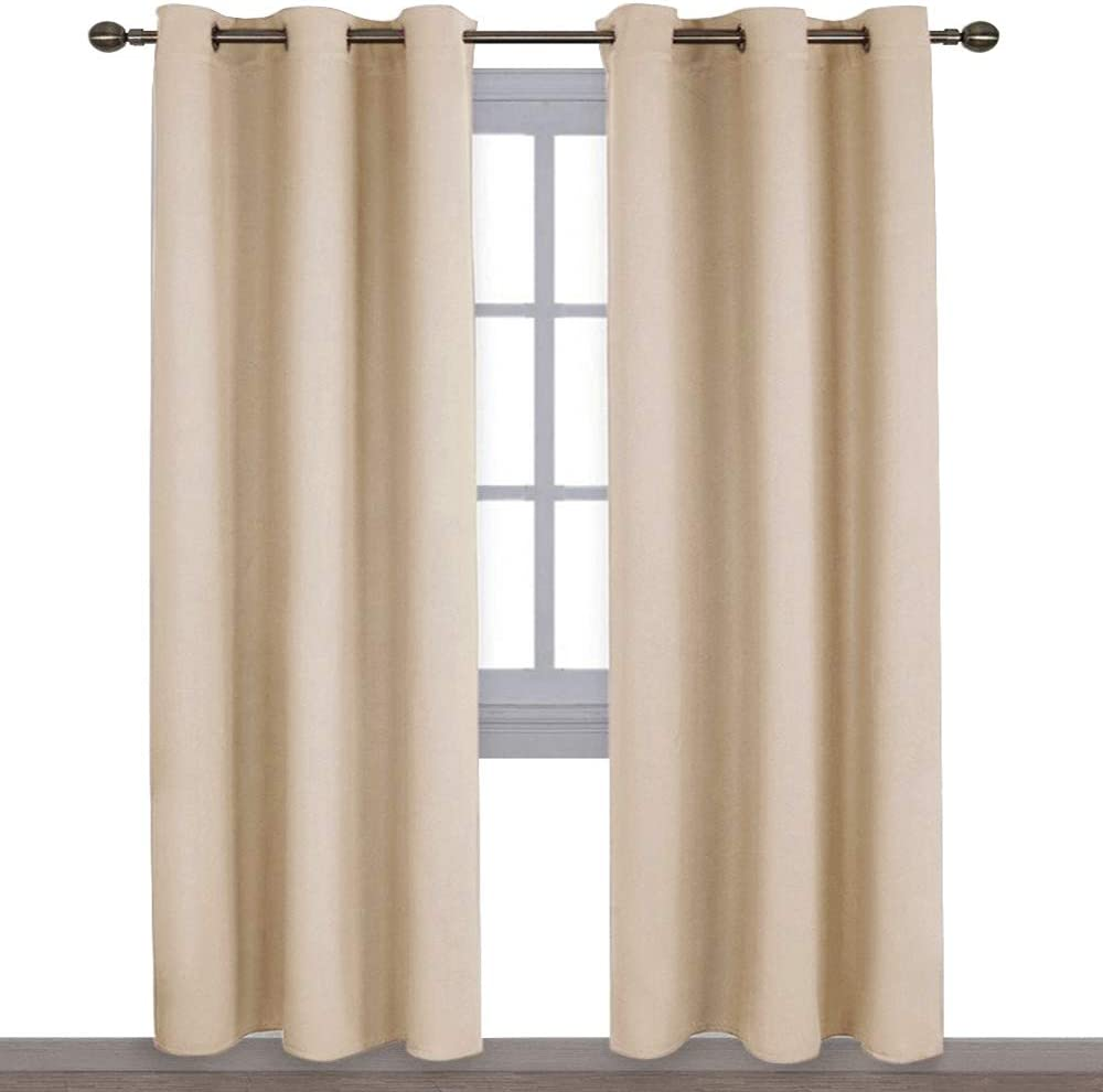 NICETOWN Thermal Insulated Eyelet Top Room Darkening Panels/Curtains/Drapes for Bedroom