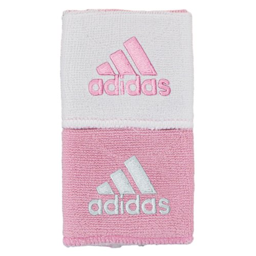 adidas Interval Reversible Wristband, Gala Pink/White / White/Gala Pink, One Size Fits All
