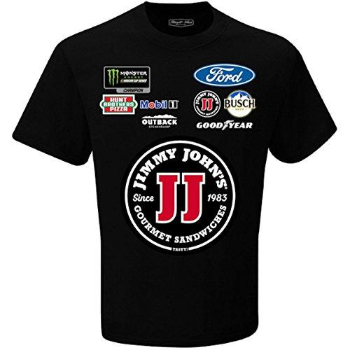 Checkered Flag Kevin Harvick 2018 Jimmy Johns Uniform Nascar T Shirt  Xlarge