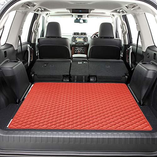 FH Group F16501 Deluxe Heavy-Duty Faux Leather Diamond Pattern Multi-Purpose Cargo Liner, Size: 46
