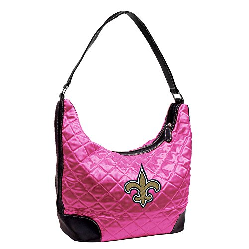 Little Earth New Orleans Saints Pink Quilted Hobo Purse by Littlearth