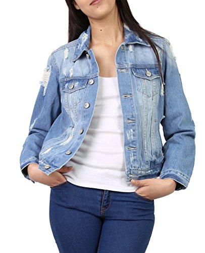 Jeans en Femme du Chemise 4 et au Stretch Veste Denim Blouson en Jeans Femme Veste S XL nTwxq0z8H