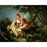 The Perfect effect Canvas of oil painting 'Francois Boucher - The Four Seasons-Autumn, 1755' ,size: 10x13 inch / 25x32 cm ,this Vivid Art Decorative Prints on Canvas is fit for Home Office artwork and Home gallery art and Gifts