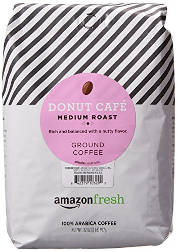 AmazonFresh Donut Cafe Ground Coffee, Medium Roast, 32 Ounce (Best Store Brand Coffee)