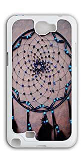 Custom Cover Case with Hard Shell Protection cell phone case for samsung galaxy note2 - Dreamcatcher black chaotic lines
