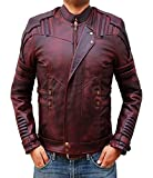 BlingSoul Star Lord Leather Jacket Mens - Chris Pratt Biker Jacket Costume