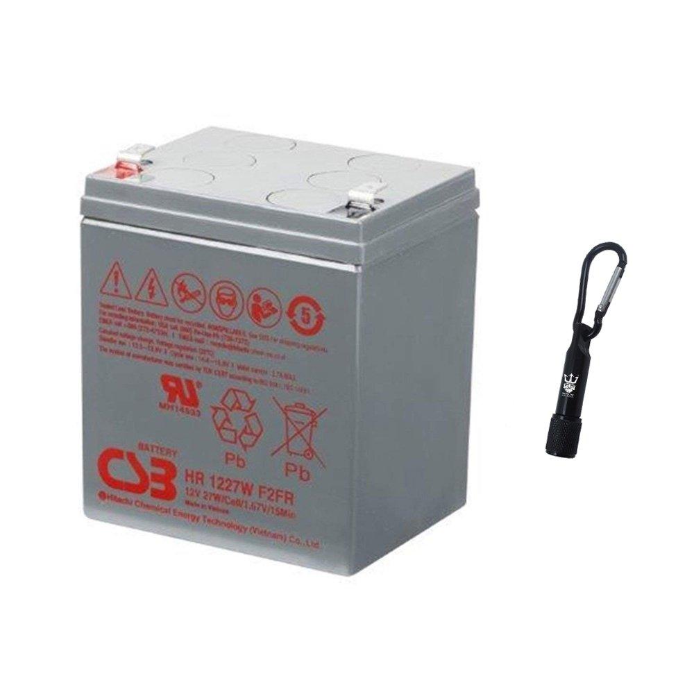 CSB HR1227W F2 FR 12 Volt 27 Watt Fire Rated SLA Sealed Lead Acid Battery