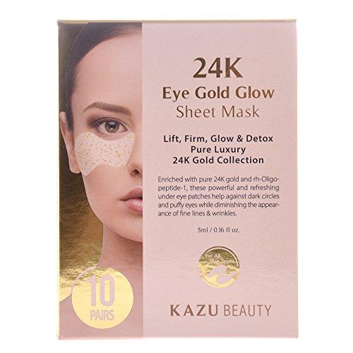 KAZU-BEAUTY-24K-Eye-Gold-Glow-Sheet-Mask-10ct
