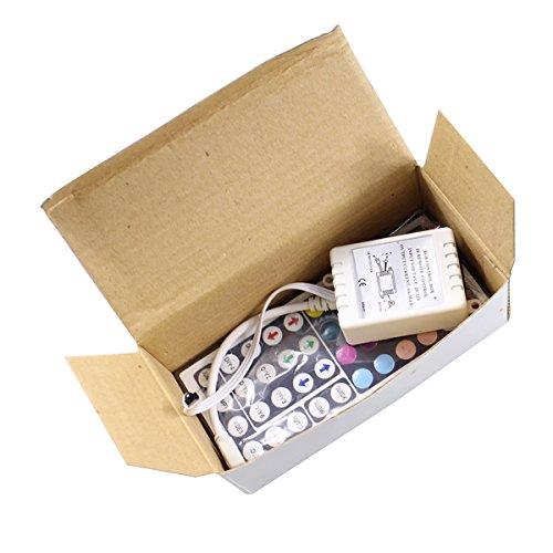 LEDwholesalers IR Remote Controller 44 Keys for RGB LED Light Strip With +GRB color order, 3324-RGB