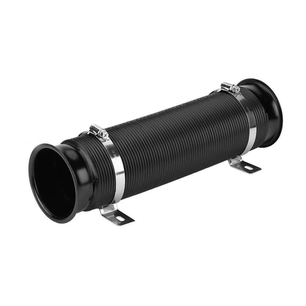 ACAMPTAR Tuyau T/élescopique Intelligent DAdmission Modifi/ée par Voiture Noire Tube de Guidage DEntr/ée de Turbine de Moteur Pince Universel en Aluminium de 76 Mm