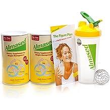 Almased Multi Soy Protein Powder (17.6 oz) - 2 Pack + Blender Bottle® Shaker + Diet Recipe Book - Non-GMO, Gluten-Free, Vegetarian Supplement for Weight Loss & Health