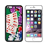 MSD Premium Apple iPhone 6/6S Plus Aluminum Backplate Bumper Snap Case IMAGE 19685841 Colorful poker chips and royal flush closeup on green cloth