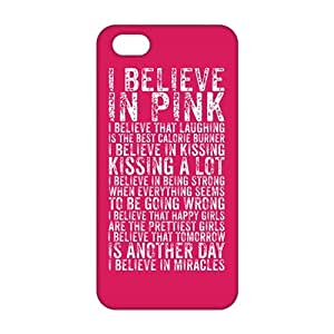 CCCM I Believe in Pink 3D Phone Case for Iphone 6 plus 5.5