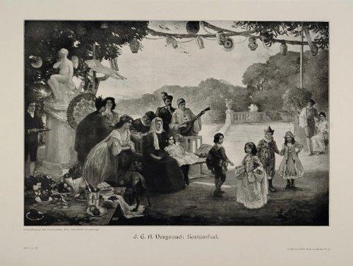 1912 Period Costumes (1912 Kostamfest Costume Party Children Vergaud Print - Original Print)
