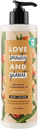 Love Beauty and Planet - Loción corporal manteca de karité y sándalo Shea Velvet - 400 ml