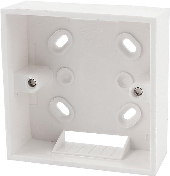 85mm x 85mm x 33mm PVC blanco Soporte Caja Empotrar para Enchufe De Pared: Amazon.es: Bricolaje y herramientas