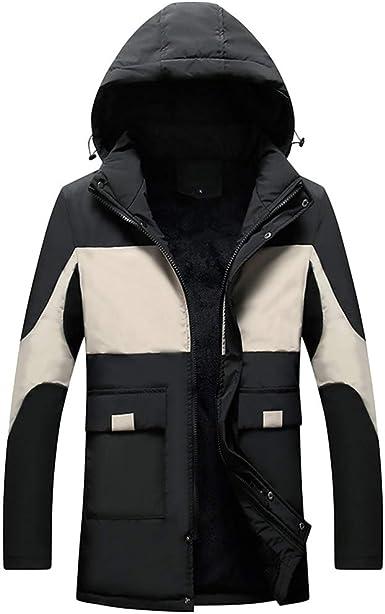 Allywit Men Waterproof Jacket Insulted Fleece Winderproof Snow Jackets Fur Hood
