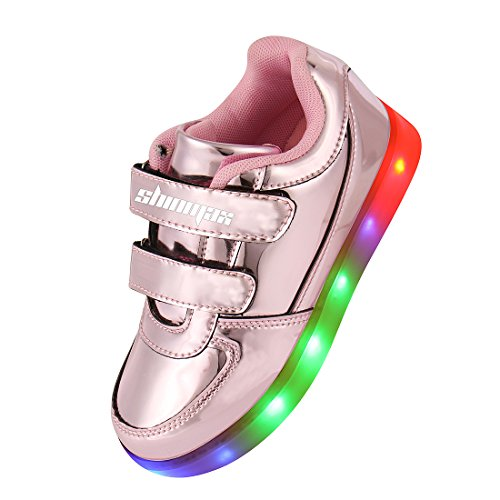 size 40 a4574 11a29 Shinmax Golden KindheitSerie LED Schuhe Multi Color USBLade ...