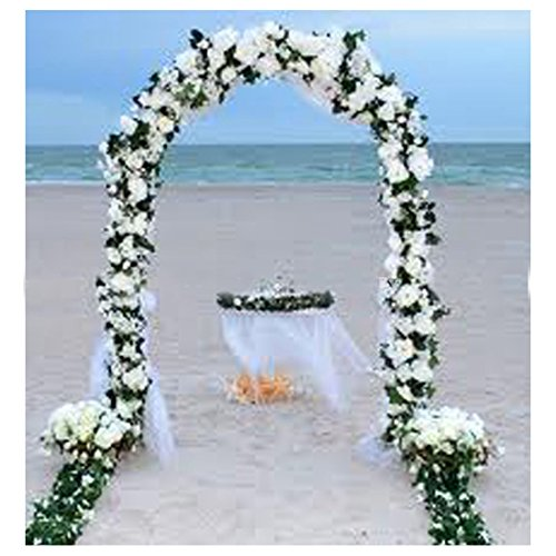 WHITE METAL ARCH 7.5 FT for Wedding Party Bridal Prom Garden Floral Decoration from Unbranded