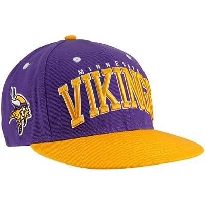 NFL Minnesota Vikings Purple-Gold Big Text Snapback Adjustable Hat from Football Fanatics