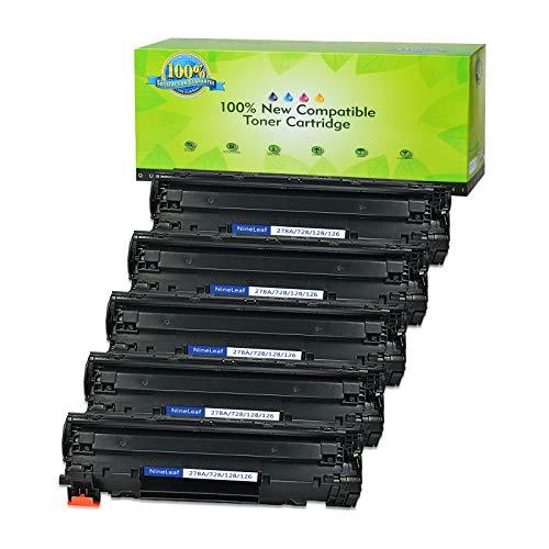 (NineLeaf Replacement Toner Cartridge Compatible for CE278A 78A LaserJet P1566 Pro M1536dnf P1606dn Printers (Black,5-Pack))
