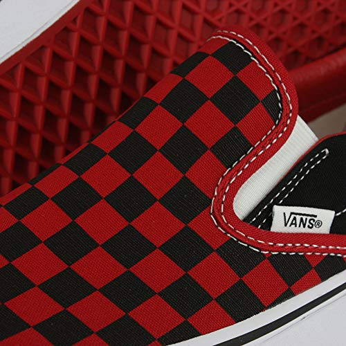 c5f70e200f2 Galleon - Vans Men s Classic Checkerboard Slip-On Sneaker Black Red Checker  6.5 M