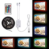 XCSOURCE 200cm Music Activated Control LED Strip Light, Flexible 5050 RGB USB LED TV Background Strip Light with RGB IR Remote Control LD1287