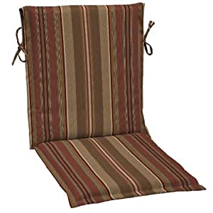 Allen Roth 37-in L X 17.5-in W Stripe Chili Red Chair Cushion