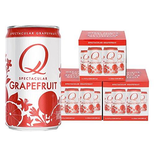 Q Mixers, Q Grapefruit Spectacular Sparkling Grapefruit, Premium Mixer, 7.5 Fl Oz Slim Can (Pack of 12)