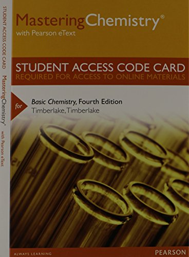 Mastering Chemistry with Pearson eText -- Standalone Access Card -- for Basic Chemistry (4th Edition)