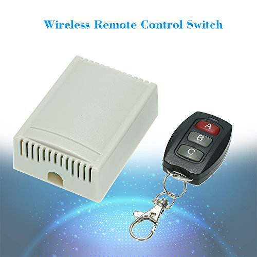 KKmoon 433Mhz DC 12V 2CH Universal 10A Relay Wireless Remote Control Switch Receiver Module and 5PCS 3 Key RF 433 Mhz Transmitter Remote Controls 1527 Chip Smart Home Automation by KKmoon (Image #8)